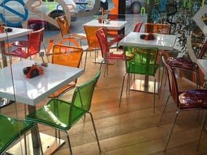 Sol chair, Stühle in farbigen Polycarbonat, stapelbar, für die Bar-Restaurant und Küche