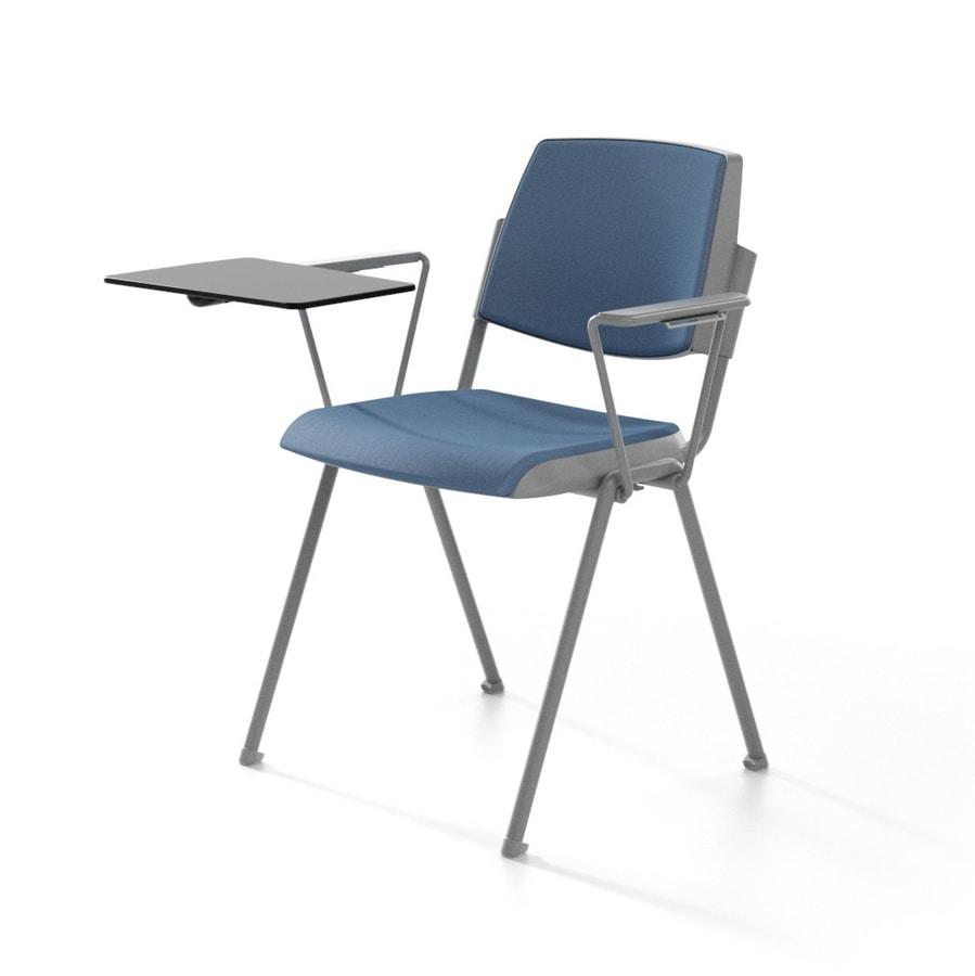 stapelstuhl gepolstert f r konferenzr ume idfdesign. Black Bedroom Furniture Sets. Home Design Ideas