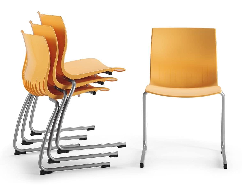 stuhl mit schlitten umgeworfen basis shell nylon idfdesign. Black Bedroom Furniture Sets. Home Design Ideas