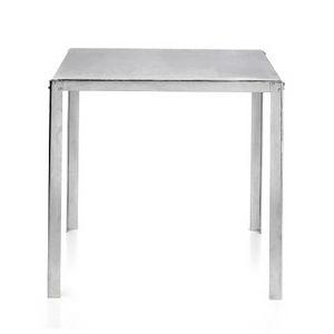 TA50, Tisch aus verzinktem Stahl mit quadratischer Platte