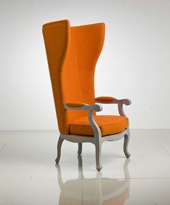5603 Arne XV, Sessel aus Leder oder Stoff, mit hoher Rückenlehne