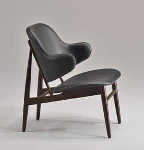 ALMA Sessel 8618A, Polsterstuhl mit modernen Linien, die für die geschäftliche Nutzung