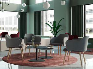 BLITZ, Sessel mit Holzbeinen für Wartezimmer