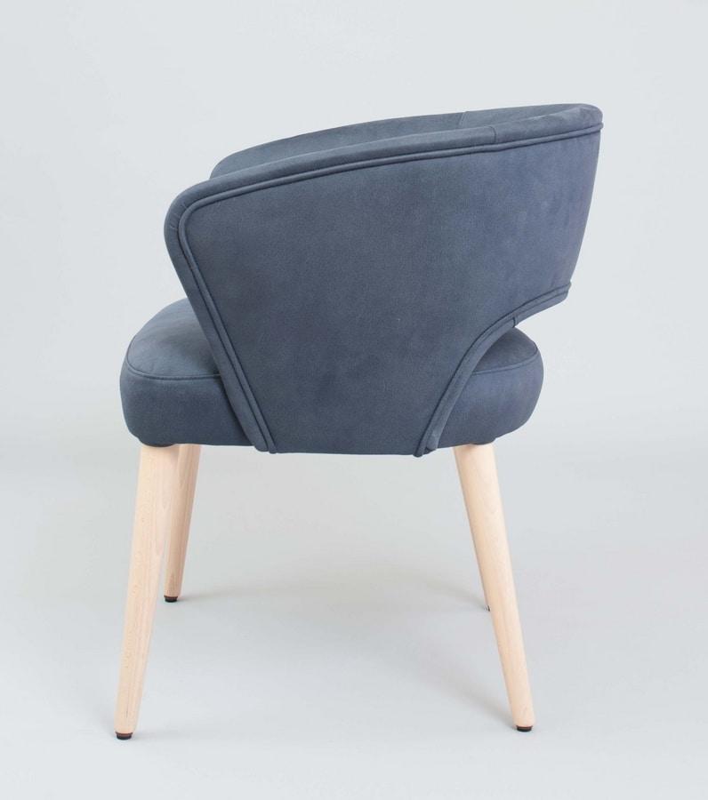 BS450A - Sessel, Sessel mit Kunstleder bezogen