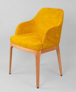 BS462A - Sessel, Gepolsterter Sessel aus Buche