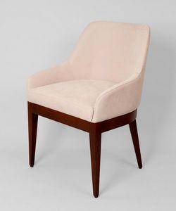 BS467A - Sessel, Gepolsterter Sessel aus Buche