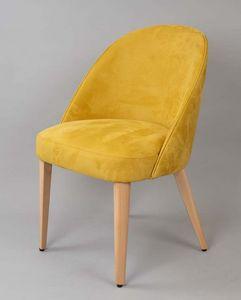 BS470A - Sessel, Gepolsterter Sessel mit gepolstertem Rücken