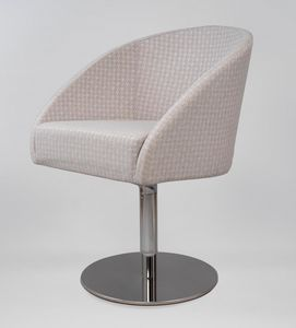 BS483A – Poltrona, Sessel mit Drehgestell aus Stahl