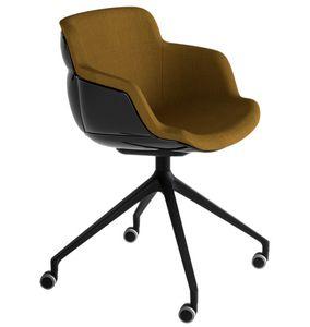 Choppy Sleek UR, Sessel mit großem Sitz und Rädern