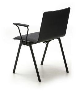 Chromis duo, Stuhl aus Metall mit gepolstertem Sitz, für den Objektbereich