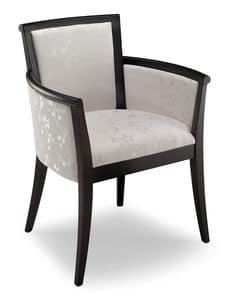 Diva, Gepolsterte Sessel aus Buchenholz, anpassbare