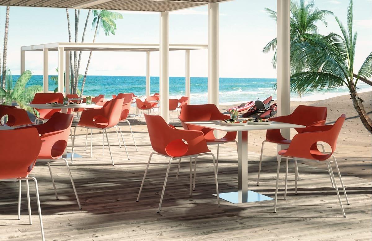 DREAMS, Moderner Sessel mit Kunststoffschale