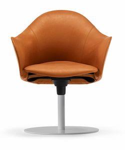Hipod & Lopod Sessel 10.0191, Drehbarer Ledersessel