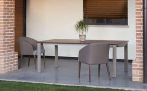 Jade, Moderne Polstersessel mit Holzrahmen