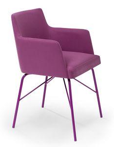 Kate ARMS metal, Kleiner Sessel mit einem modernen Look