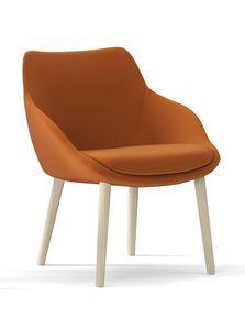 METROPOLITAN, Sessel mit Holzbeinen