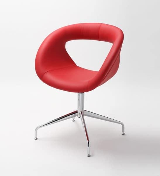 Sessel Mit Metallgestell Leder Schale Idfdesign