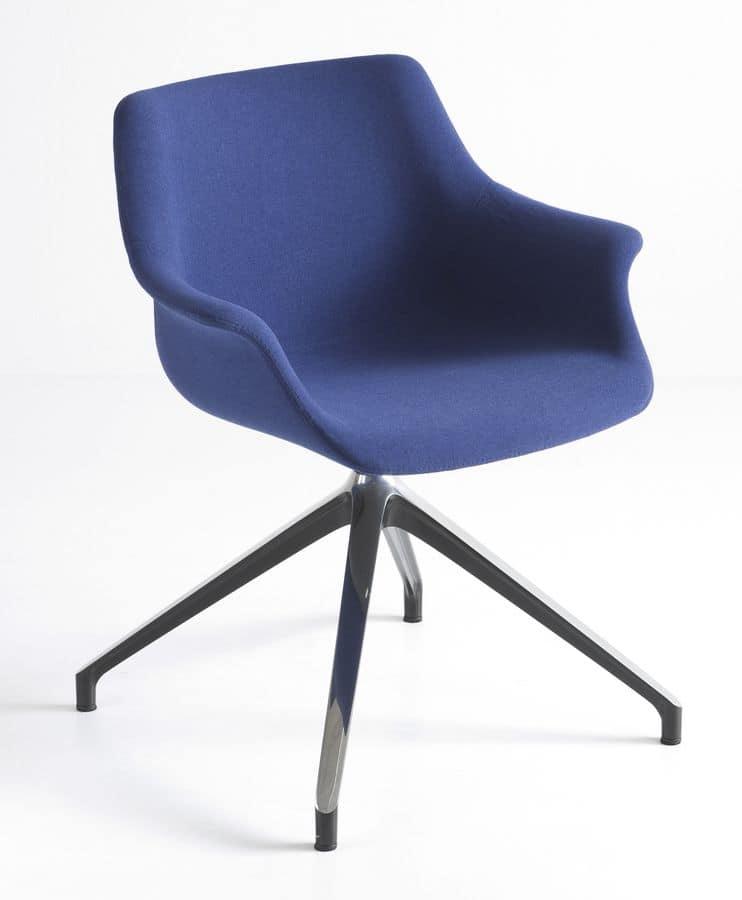 More UPH U, Gepolsterte Sessel mit 4-Sterne-Basis