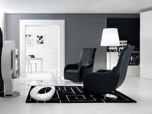 NOLITA, Gepolsterte Sessel mit modernen Linien, Drehelement, für Leseraum
