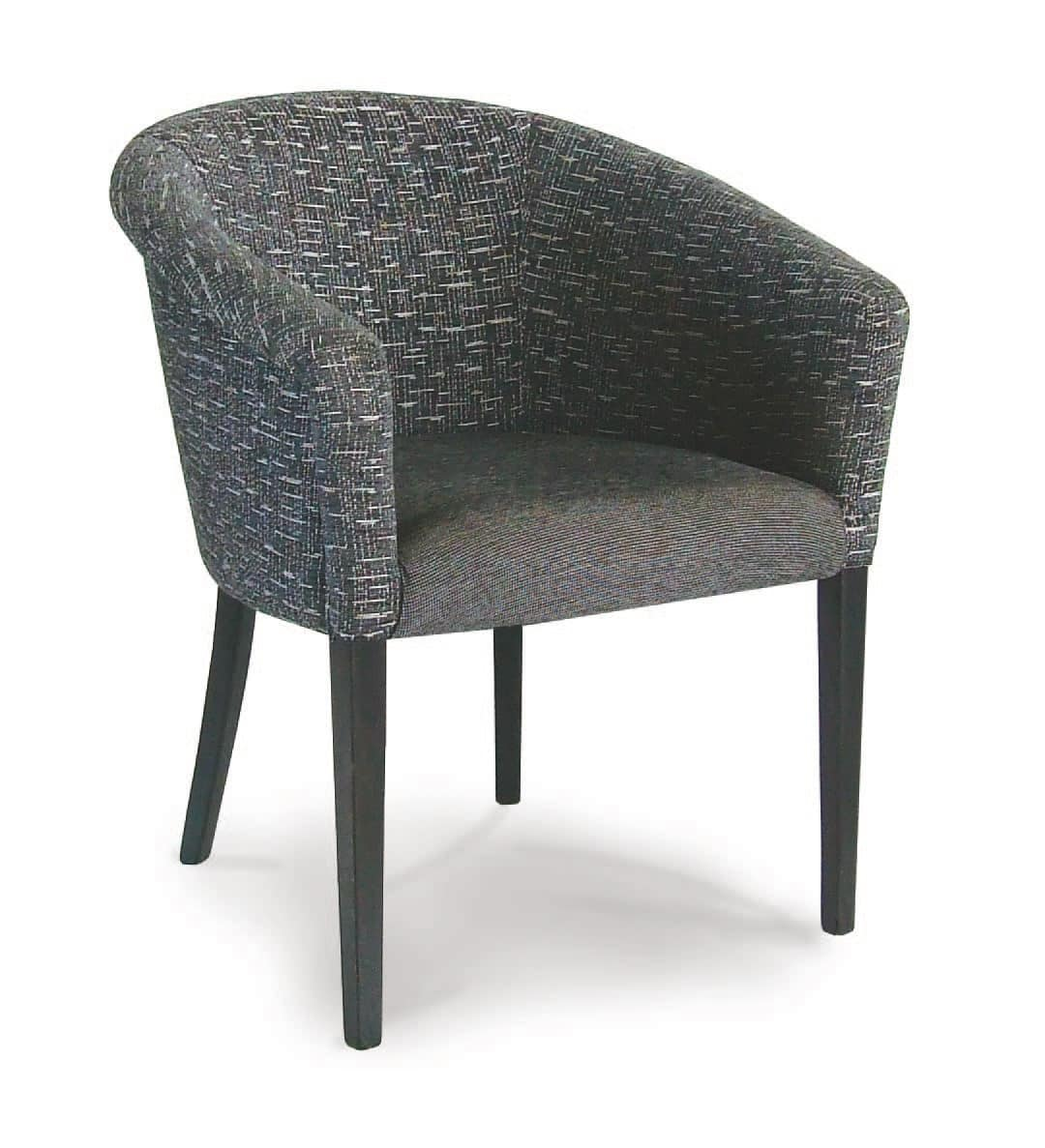 Oporto, Wanne Stuhl mit Holzboden, für die kommerzielle Nutzung