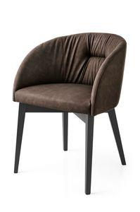 PL 1902, Moderner Sessel mit gepolsterter Rückenlehne