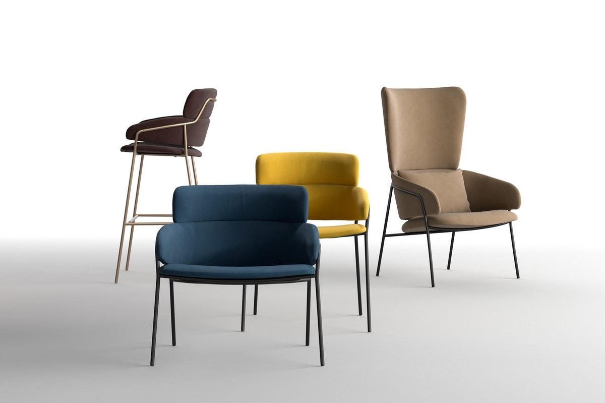 Strike LO, Weiche Sessel, aus Stahlrohr, für Zuhause