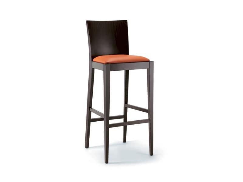 Hocker aus buchenholz sitz gepolstert idfdesign for Barhocker holz stoffbezug