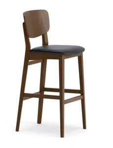 1109, Einfache Hocker aus Holz, für Küchen und Bars