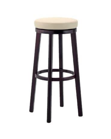 297, Hocker aus Holz mit gepolstertem Sitz für Bars und Pubs