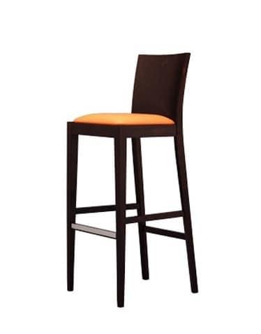 331 SG, Moderne Stuhl, mit glatter Rückseite, für Hotels