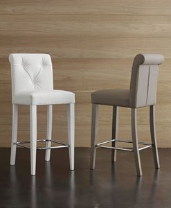 Art. 564 Billionaire stool, Hochwertiger Soft-Touch-Ecoleather-Hocker