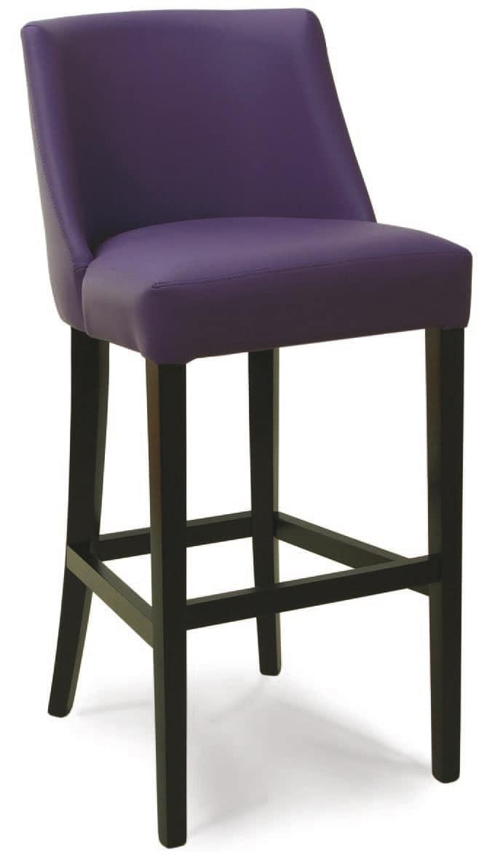 Gepolsterter Stuhl mit Rückenlehne, für stilvolle Bars | IDFdesign