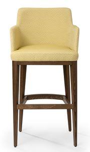 Katel stool ARMS, Moderner Hocker mit Armlehnen