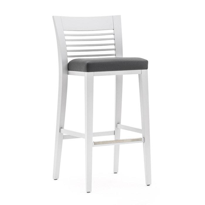 Sessel aus massivholz gepolsterter sitz und r cken f r for Barhocker stoffbezug