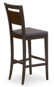 Lory stool, Hocker in Holz mit gepolstertem Sitz