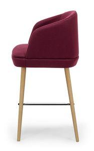 Noemi stool ARMS, Moderner Hocker mit Ummantelung