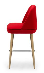 Noemi stool, Hocker mit komfortabler Polsterung