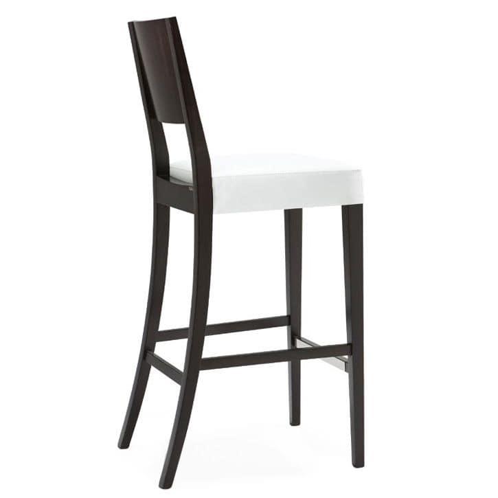 Sitze hocker modern holz einfach und polstersitz idfdesign for Barhocker holz stoffbezug