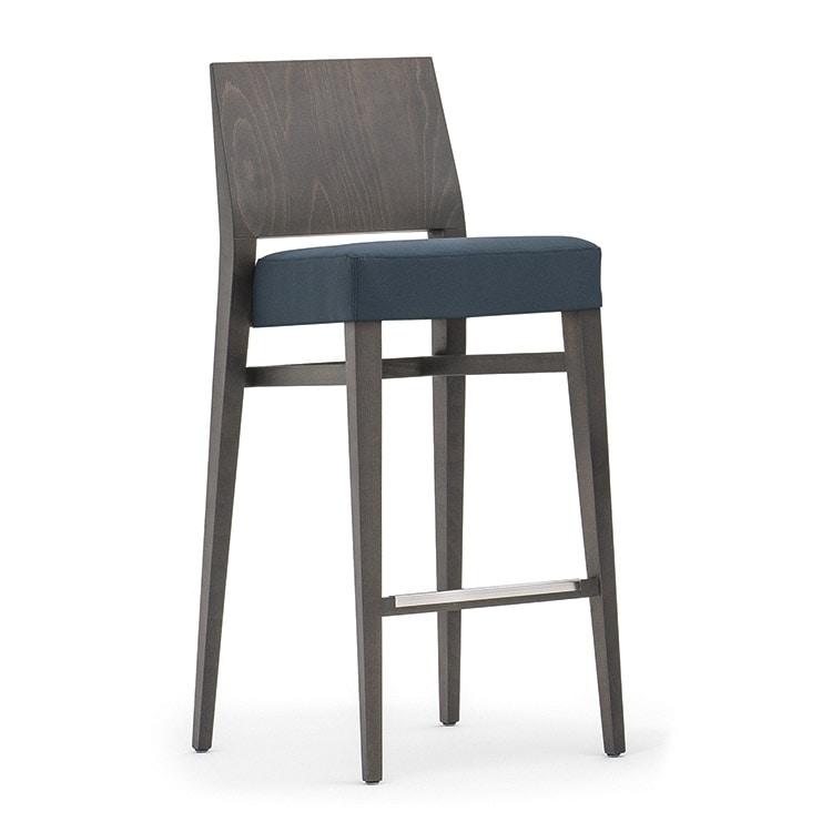 Sitze hocker modern holz einfach und polstersitz idfdesign for Barhocker mit stoffbezug