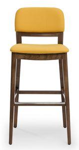 Tosca stool, Gepolsterter Hocker, mit Rückenlehne in 3 Versionen erhältlich