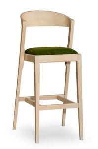 Zanna stool, Moderner Barhocker aus Holz