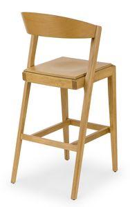 Zanna wood stool, Holzhocker für Tavernen und Bars