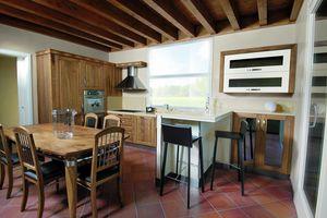 Melissa Küche 107/A, Küche aus natürlichem italienischen Walnussholz