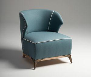 Agostina Sessel, Sessel mit harmonischen Formen, mit Naturwolle bedeckt