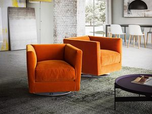 Dolcevita Sessel, Sessel mit modernen Linien, Metall Drehsockel