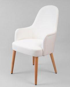 BS442A - Sessel, Sessel aus Kunstleder mit hoher Rückenlehne