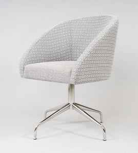 BS483A - Sessel, Gepolsterter Sessel mit Drehgestell