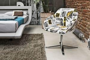 CITYMAP PT100, Sessel mit Stoff für Lofts und Apartments