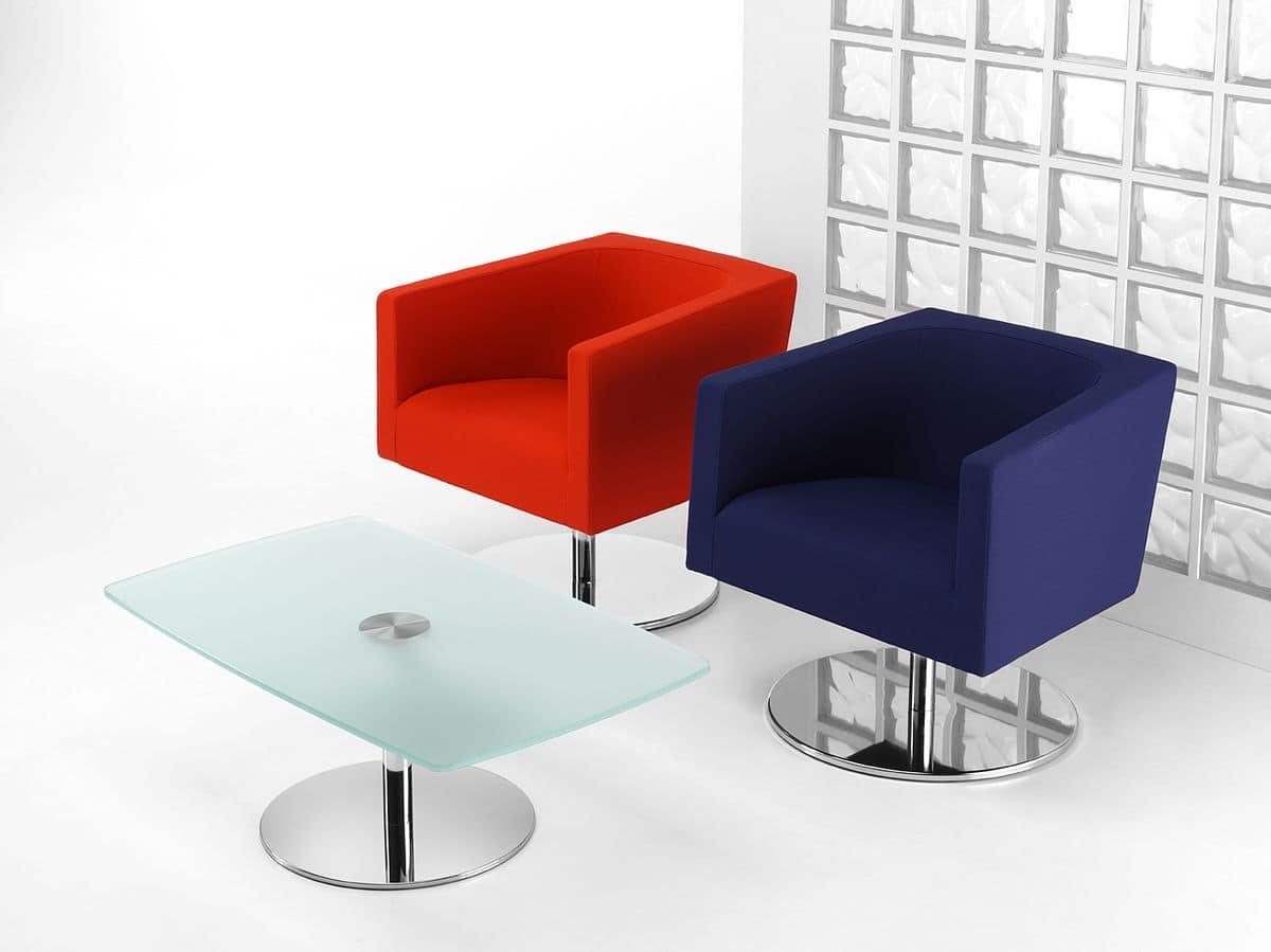 drehstuhl mit rund verchromt idfdesign. Black Bedroom Furniture Sets. Home Design Ideas
