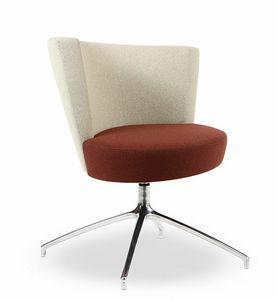 EL1, Moderne Sessel mit kreisförmigen Sitz, 4-Sterne-Basis